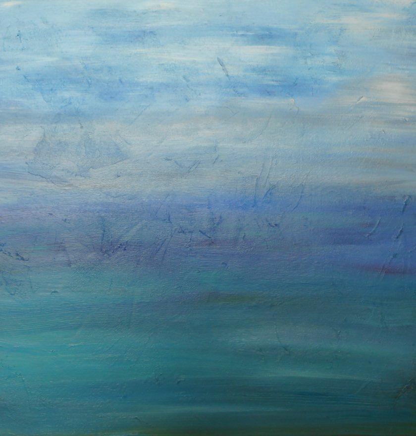 'Far Horizon' Acrylic on Canvas </br>Original: 60 x 60 cms £150.00 </br>  Limited Edition Prints Available