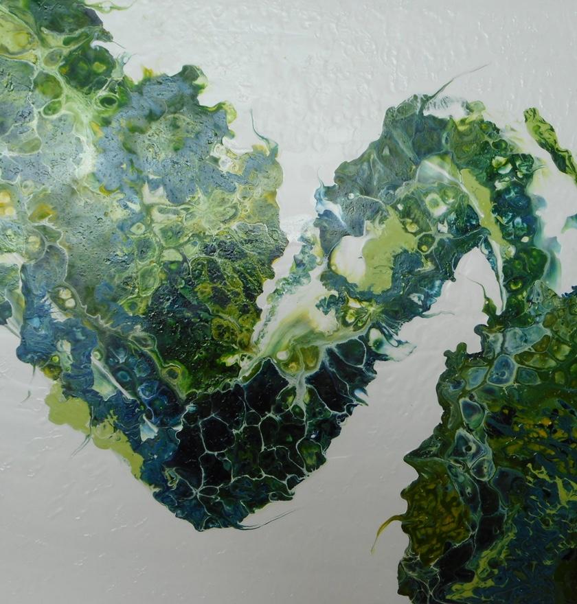 'Sea Dragon' Resin on Board </br> Original: 61 x 51 cms SOLD
