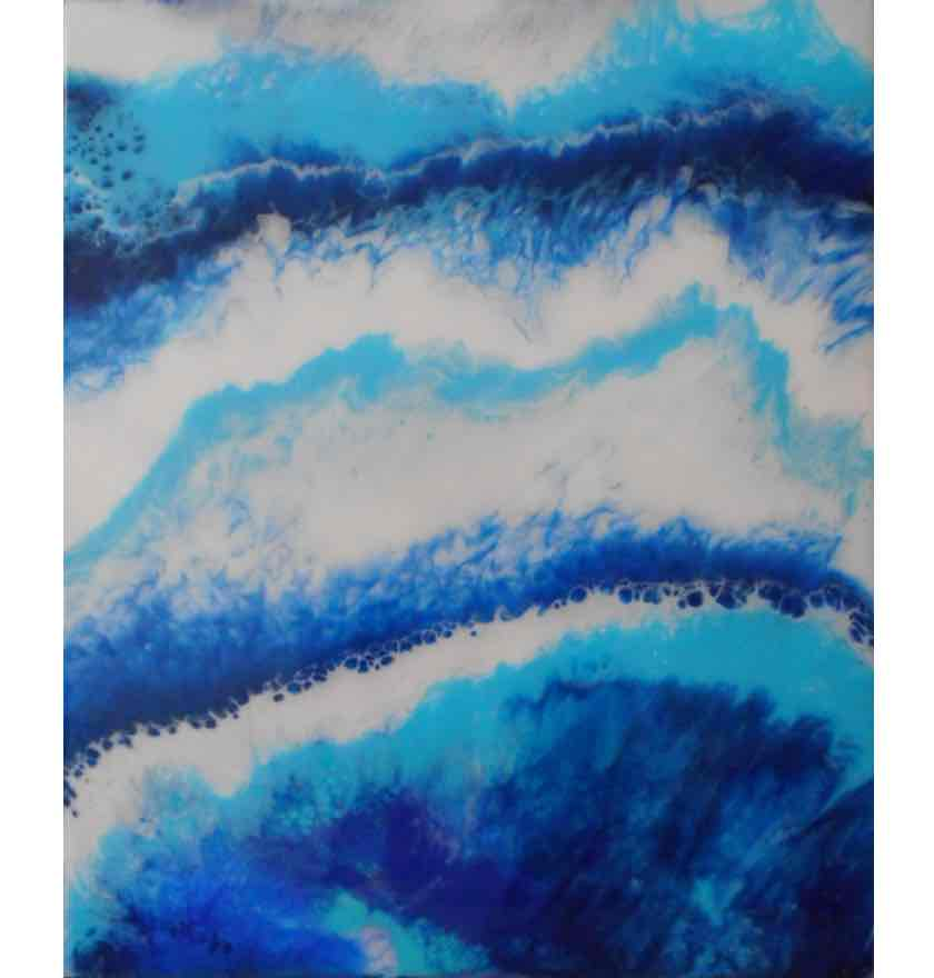 'Spring Tide' Resin on Board </br>Original: 61 x 51 cms £225.00