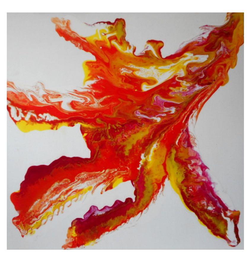 'Hidden Dragon' Acrylic on Canvas</br>Original: 80 x 80 cms £180.00</br>Limited Edition Prints Available